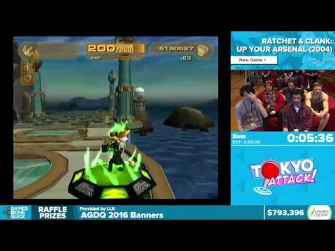 Ratchet & Clank: Up Your Arsenal by Xem in 34:19 - Awesome Games Done Quick 2016 - Part 144