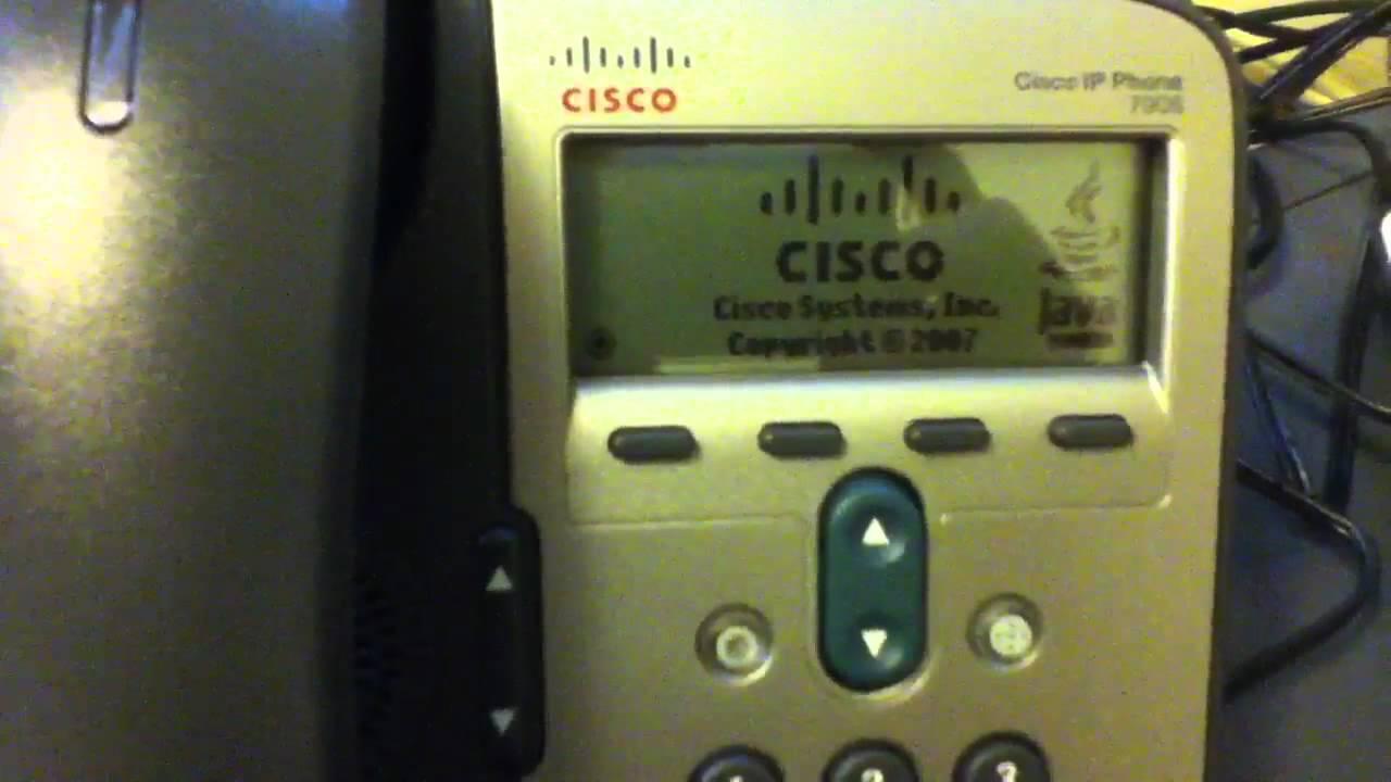 Cisco ip phone 7906 after doing factory reset