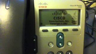 Cisco ip phone 7906 after doing factory reset