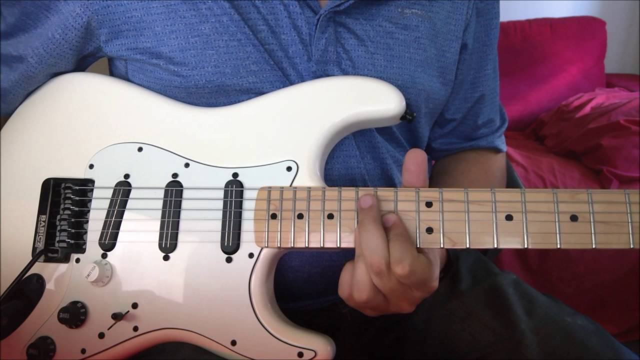how to play shivers on guitar