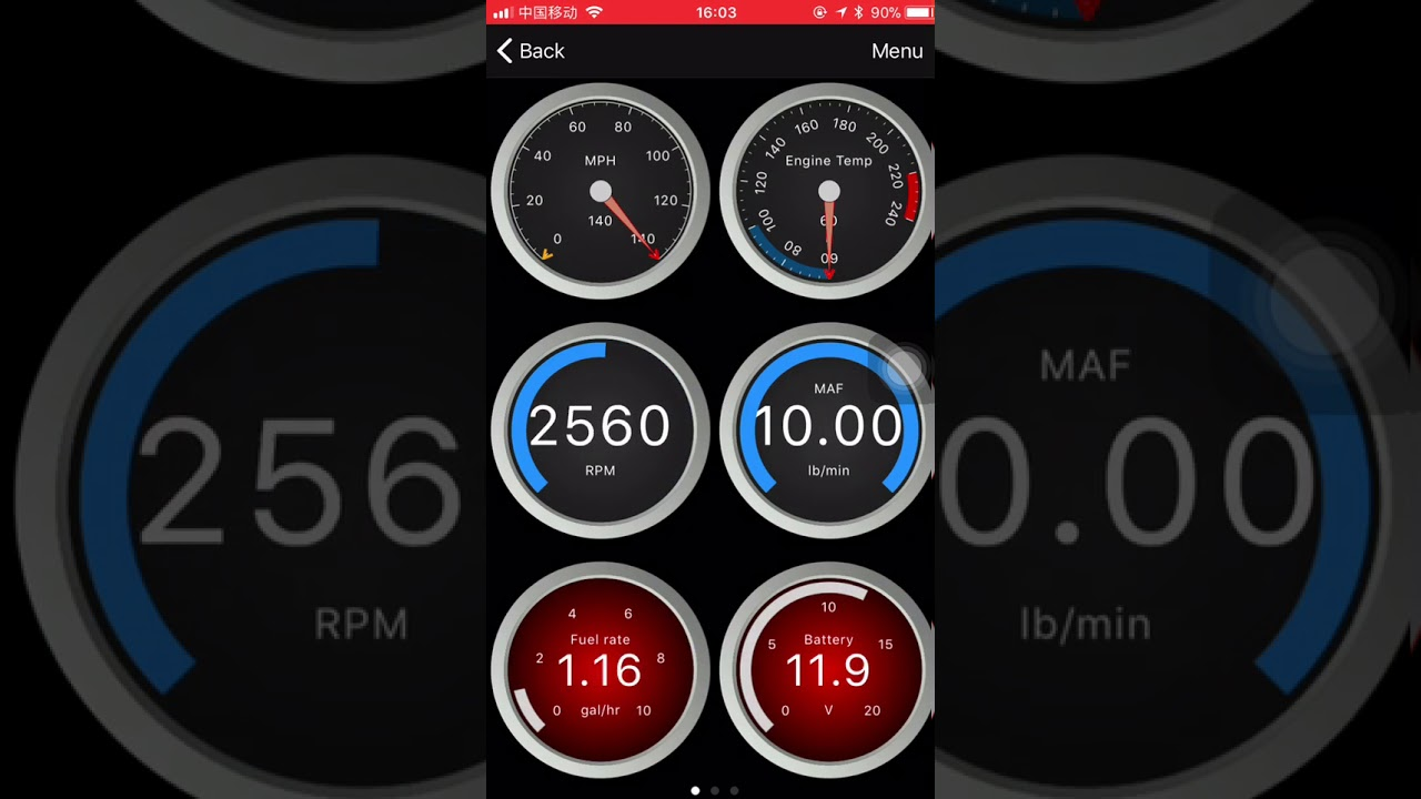 Globmall OBD2 Bluetooth Scanner Connection Viedo- iPhone 7 for OBD Fusion  APP
