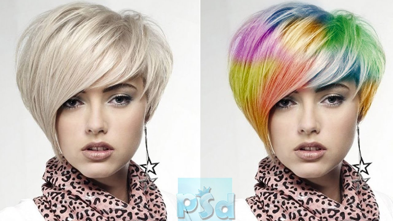 Photoshop CS6 Funky Hair Color Tutorial - YouTube