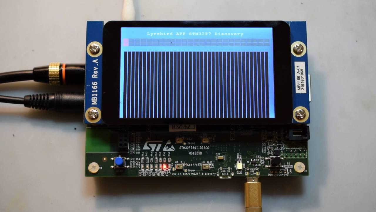 STM32F769I-Disco for Lyrebird APP by Torsten Jaekel