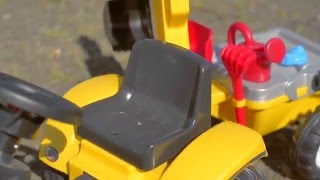 Toy Pedal tractor constructor with trailer and tools, item no. 2055N, by falk Toys