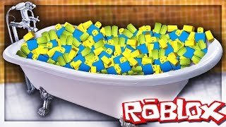 BATH FULL OF ROBLOX CHALLENGE!?