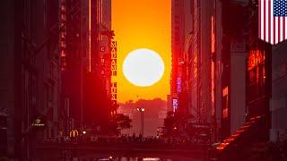Manhattanhenge: NYC's most spectacular sunset explained - TomoNews