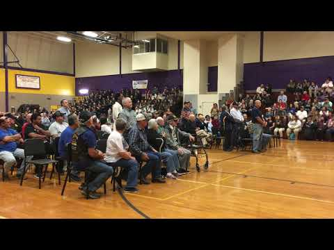 Thibodaux High School Veterans Day ceremony 2018