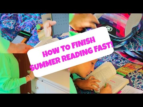 How to Finish Summer Reading FAST!