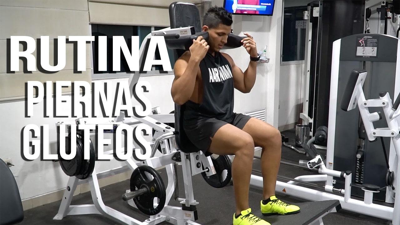 entrenar piernas en el gym