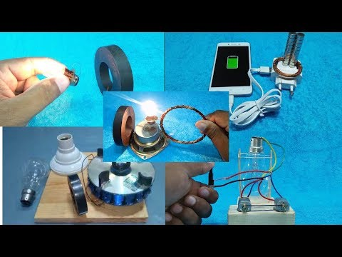 Free Energy Top 5 Generator 100% Working Real Project Exhibition Science Experiment