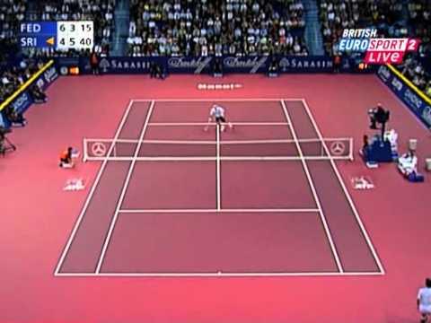 Roger Federer vs Paradorn Srichaphan -- Basel 2006 SF Highlights