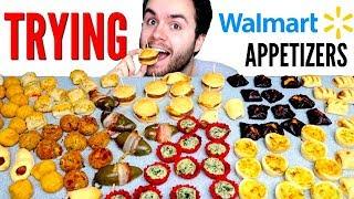 EPIC Walmart Appetizers Taste Test! - Trying Walmart Frozen Food!