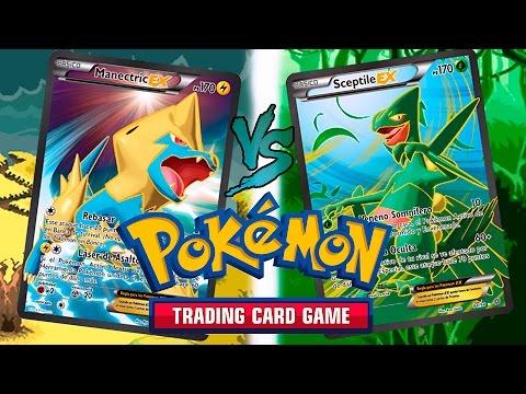 POKÉMON TRADING CARD GAME: MANECTRIC EX (ÑET) VS (BLESSUR) SCEPTILE EX! (TCG/JCC).