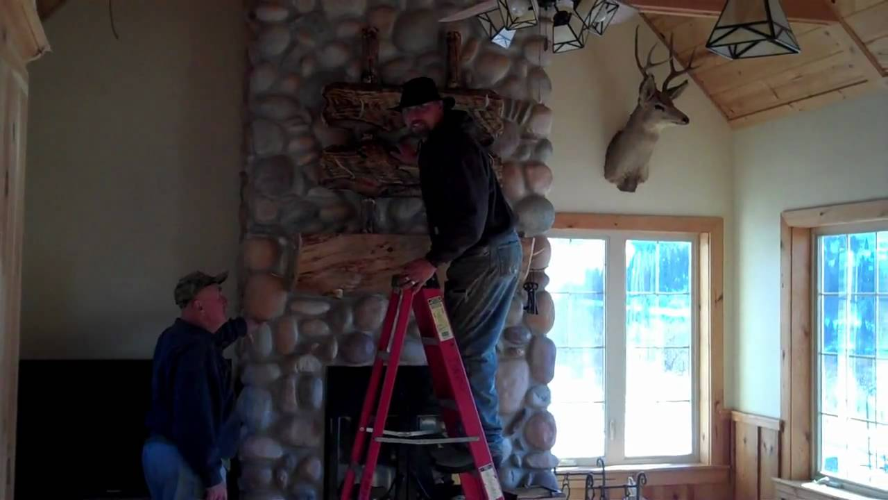 Installing A Gun Rack Over The Fireplace At My Idaho Home