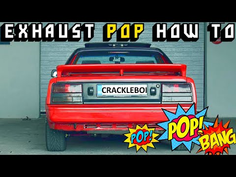 EXHAUST POP how to - super simple guide for POPS and BANGS