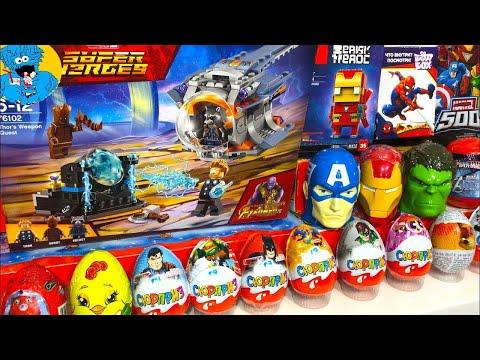 Киндер Сюрпризы,Unboxing Kinder Surprise Мстители 3 Война Бесконечности,Маша и Медведь,Spider-Man