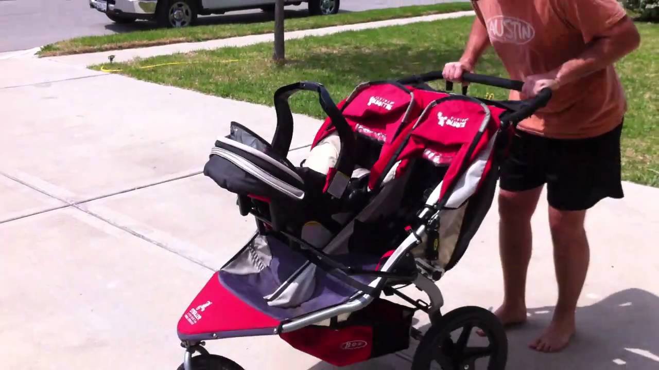 Pram With Car Seat Testing My Homemade Bob Duallie Stroller Adapter Youtube
