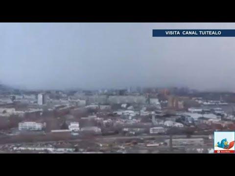 Así llegó el invierno a Siberia; 'tsunami de nieve' cubre la ciudad