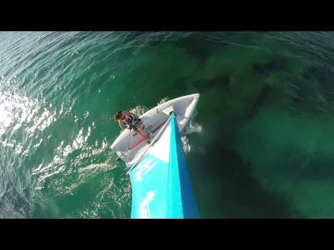 Gopro: on the mast, sailing in Greece, Kefalonia with a laser pico and a Gopro on a calm day