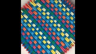 Loop and Loom Square Weave Blue Dream