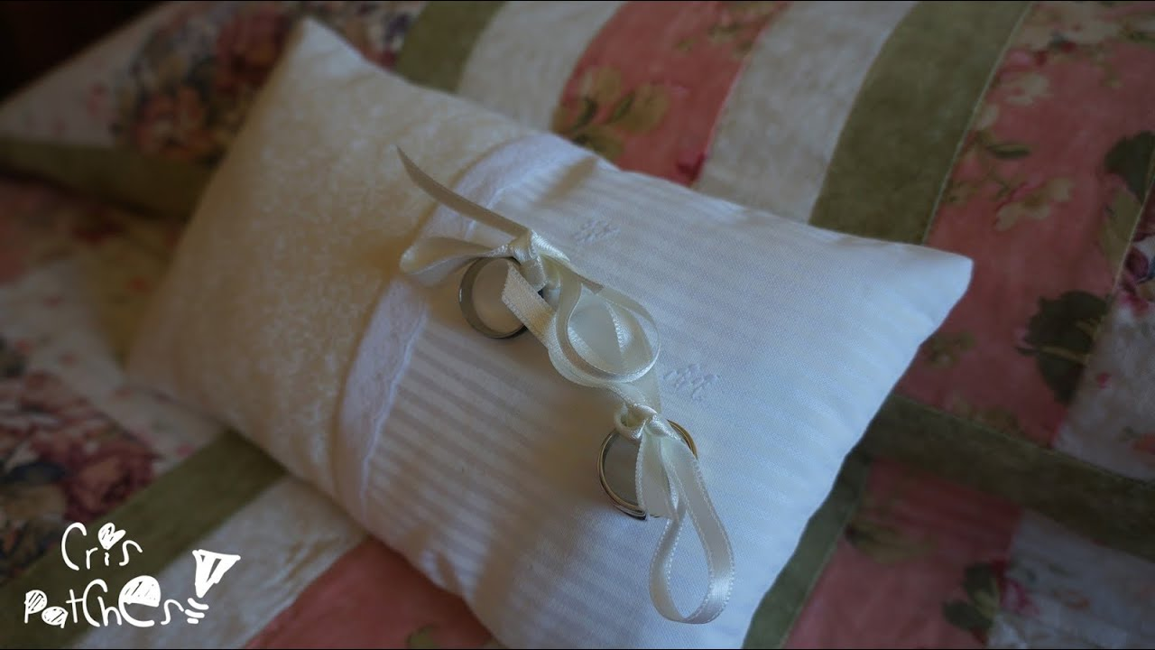 Como hacer coj n para las alianzas anillos de boda - Como confeccionar cojines para sofas ...