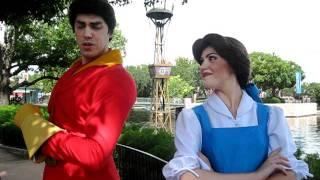Belle & Gaston - Chatting - Walt Disney World 9/10/11