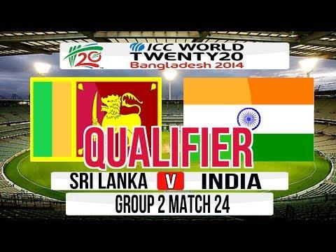 Cricket Game ICC T20 World Cup 2014 Super 8 Qualifier match  Sri Lanka v India Group 2 Match 24