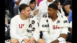 PAUL GEORGE REPORTEDLY SPOKE WITH KLAY THOMPSON ABOUT JOINING HIM IN L.A.!
