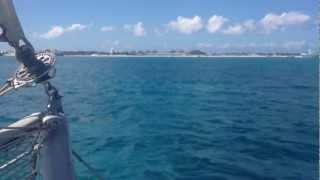 Outremer 55 catamaran - Sailing round St Martin, Caribbean - 11 knots +