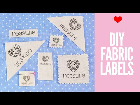 image about Printable Fabric Labels identify Generate your individual Garments Labels: Do it yourself Material Labels - YouTube