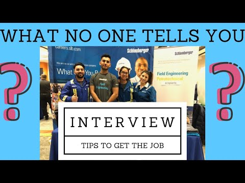 YOU NEED TO KNOW THESE TIPS FOR YOUR SCHLUMBERGER (or any company) INTERVIEW!
