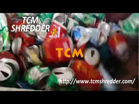 Aluminum Waste Tins Cans Shredder Machine