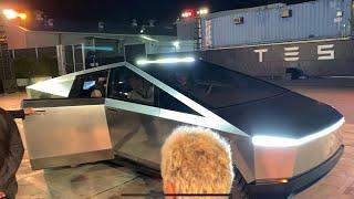 Tesla Cybertruck First Ride: Inside the Tesla Cybertruck