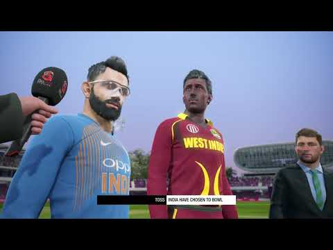 Cricket 19 India vs West Indies PS4 Gameplay T20 Highlights