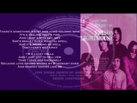 Edison Lighthouse - Love Grows (+ lyrics 1970)