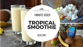 TROPICAL SMOOTHIE RECIPE | 1 Minute Video!