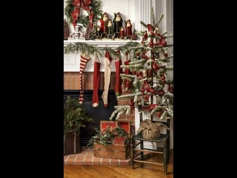 Prim Christmas Primitive Decorating   Craft Ideas Tour How to     Prim Christmas Primitive Decorating   Craft Ideas Tour How to decorate for  a Country Christmas