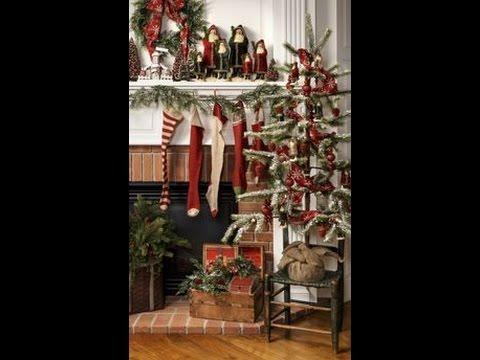Prim Christmas Primitive Decorating \ Craft Ideas Tour-How to - primitive christmas decorations