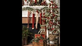 Prim Christmas Primitive Decorating & Craft Ideas Tour-how To Decorate For A Country Christmas