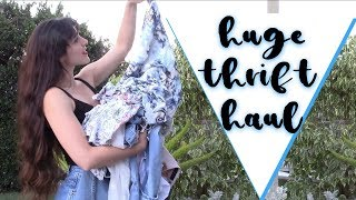 Huge Thrift Haul ★ // Denim Jackets, Summer Dresses, etc.
