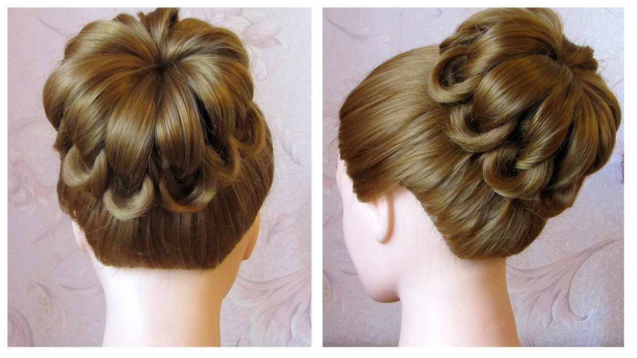 tuto coiffure simple cheveux mi long long chignon tress