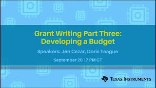 Grant Writing Part Three: Developing a Budget