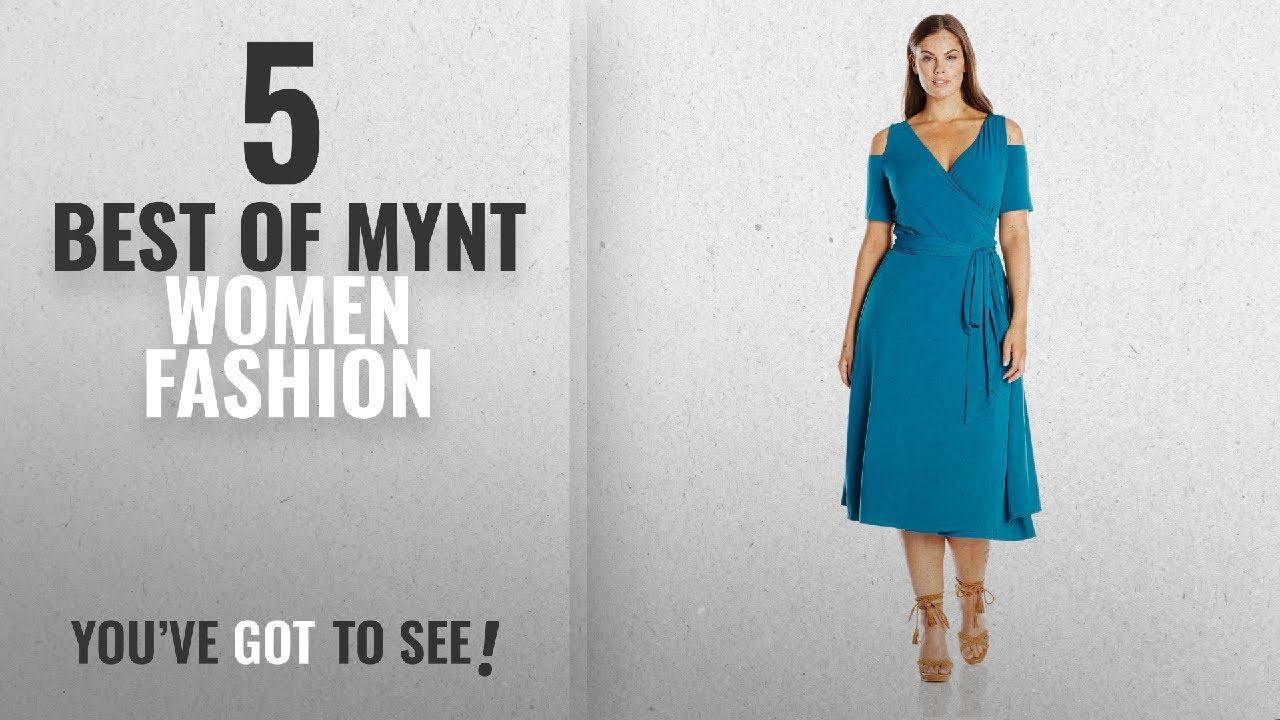 97abcae15d5 Mynt Women Fashion  2018 Best Sellers   MYNT 1972 Women s Plus Size Cold  Shoulder Wrap Dress