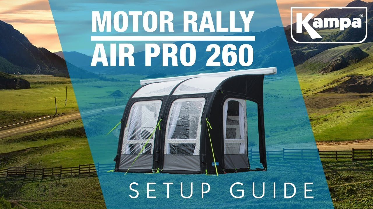 Kampa Motor Rally Air 260 Pro Setup Guide Youtube