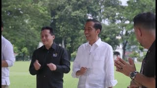 HOBA!! Jokowi Goyang Dayung dengan 34 Duta LIDA 2019 #DangdutanBarengPresiden