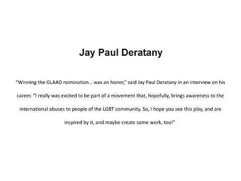 Jay Paul Deratany   GLAAD Nominee Inspiring His Audiences