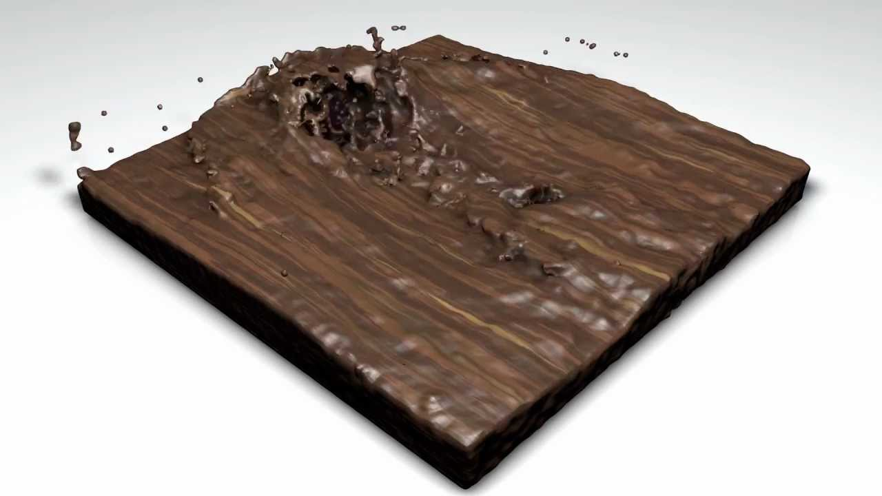 flüssiges holz / liquid wood / cinema4d - youtube