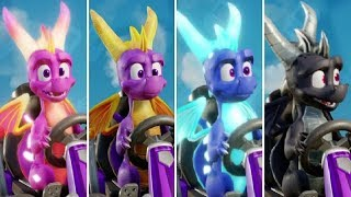 Crash Team Racing - Spyro \u0026 Friends DLC - All Characters + New Track