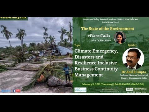 #PlanetTalks   S2E3   Anil K Gupta   Climate Emergency, Disasters and Resilience