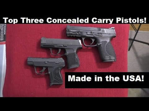 Best Concealed Carry Pistols Made in the USA!